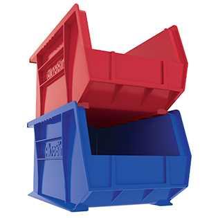 plastic storage bin 14 3 4 long 8 1 4 wide 7 high 60 l. Black Bedroom Furniture Sets. Home Design Ideas