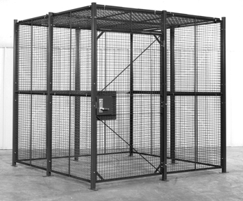 Security Cages 4 Sided W Ceiling